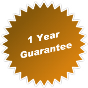 1 year guarantee - sheds and large items