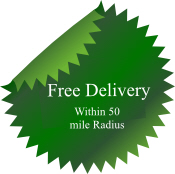 Sheds and large items delivered free within 50 mile radius